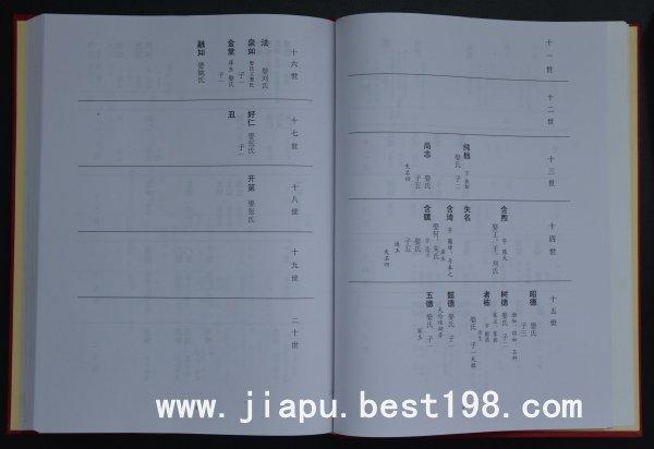 河南西华县王氏族谱所采用的格式